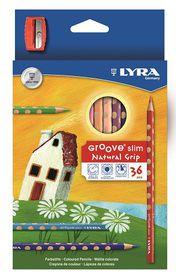 Lyra Groove Slim 36 Colour Pencils + Sharpener