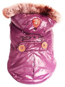 Dog's Life - Royale Parka Jacket With Hood - Purple - 2 x Extra-Large