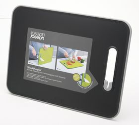 Joseph Joseph - Slice and Sharpen Large Cutting Board - Black