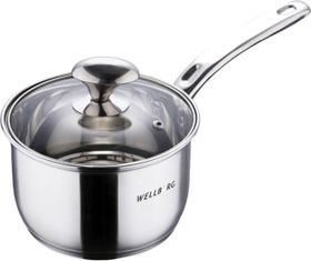 Wellberg - 16 cm Stainless Steel Saucepan With Lid - 1.9 Litre