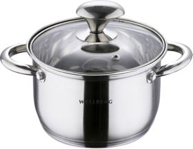 Wellberg - 20cm Stainless Steel Casserole With Lid - 3.5 Litre
