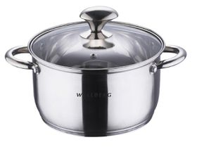 Wellberg - 24cm Stainless Steel Casserole With Lid - 6 Litre