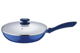 Wellberg - 28 cm Frypan With Lid - Blue