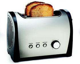 Salton - Stainless Steel 2 Slice Toaster