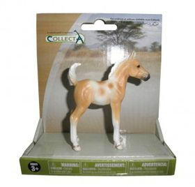 Collecta Horse Pinto Foal Standing - Palomino - Medium
