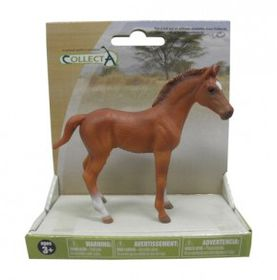 Collecta Horse Thoroughbred Foal Standing - Chestnut
