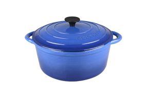 Gourmand - 4 Litre Round Cast Iron Casserole - Blue