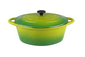 Gourmand - 7 Litre Oval Cast Iron Casserole - Green