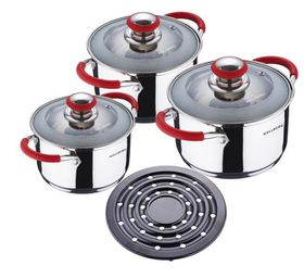 Wellberg - 7 Piece Cookware Set - Red