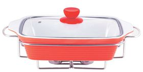 Wellberg - Rectangle Food Warmer - Red