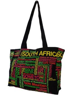 Fino printed rainbow color souvenir bag/tote with all SA landmarks - SKH135