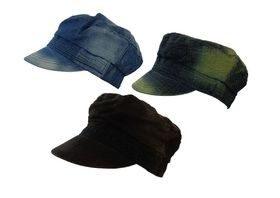 Fino 3 Piece Clearance Pack Rustic Denim Army Caps SKC135