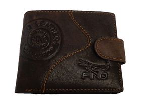 Fino Genuine Leather Hl-1338 Wallet - Brown