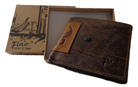 Fino Genuine Leather Hl-008/Cro Wallet Brown