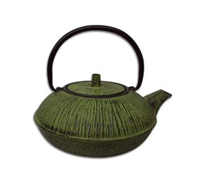 Regent - Cast Iron Chinese Teapot - Lime Green - 600ml