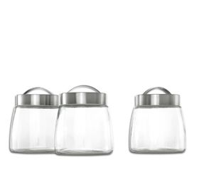 Consol - Soho Glass Canister with Stainless Steel Lids