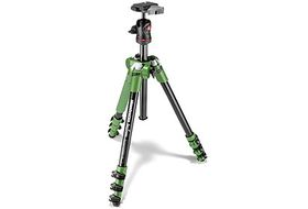 Manfrotto MKBFRA4G-BH Befree Aluminum Tripod with Ball Head Kit - Green