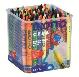 Giotto Cera 96 (8x12) Wax Crayons