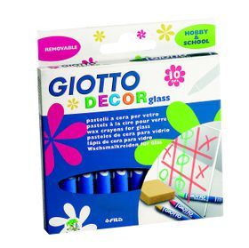 Giotto Decor Glass 10 Wax Crayons