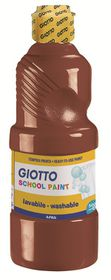 Giotto School Paint 500ml - Brown