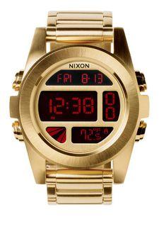 Nixon Unit SS All Gold Mens Watch - A360502