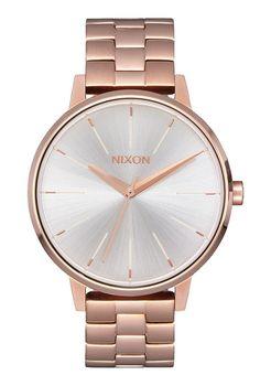 Nixon Kensington Rose Gold & White Ladies Watch - A0991045