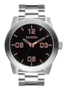 Nixon Corporal SS Gray Rose Mens Watch - A3462064