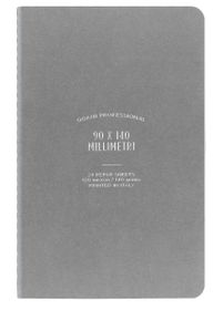 Ogami Professional Collection Grey - Mini 48 Pages Unruled Softcover Notebook