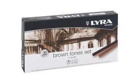 Lyra Polycrayons Pastels - 12 Brown Tones in Box