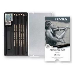Lyra Rembrandt Charcoal Set - 11 Pieces in Metal Box