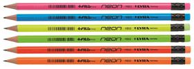 Lyra Neon 12 HB Graphite Pencils With Eraser Tip