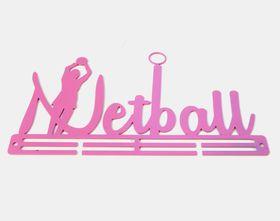 TrendyShop Netball Medal Hanger - Pink