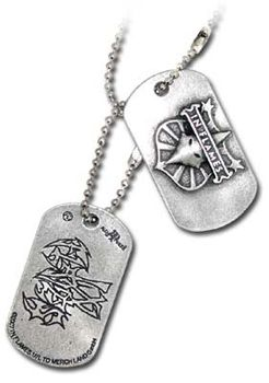Alchemy In Flames Crest & Logo Dog Tags - Pewter (Pair of 2)