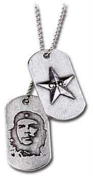 Alchemy Che Guevara Star & Silhouette Dog Tags - Pewter (Pair of 2)