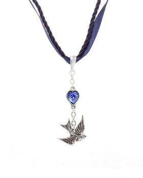 Alchemy Swallow Pendant - Pewter