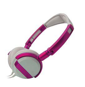 VCOM DE011 Headphone With Microphone 3.5mm Fold - Purple