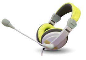 VCOM DE160 Headphone With Microphone 3.5mm Jack - Yellow