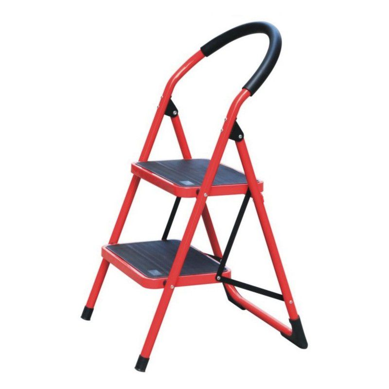 abru domestic step ladder aluminium 2 tread loading zoom hd2 mobile