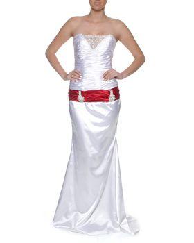 Snow White Sweetheart Mermaid Wedding Gown - White