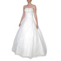 Snow White Strapless Princess Ivory Wedding Gown