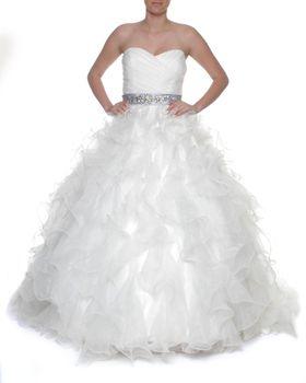 Snow White Sweetheart Vera Wang-Style Wedding Gown - White