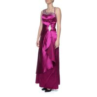 Snow White One-Shoulder Evening Gown - Magenta & Purple (Size: M-L)