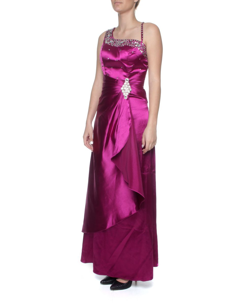 Snow White One-shoulder Evening Gown - Magenta & Purple (size: M-l ...