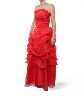 Snow White Princess Evening Gown - Red (Size: M-L)