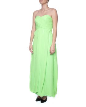 Snow White Strapless Evening Gown - Lime Green