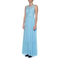 Snow White Lace Bodice Chiffon Evening Gown - Light Blue (Size: S-M)