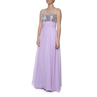 Snow White Sparkling Chiffon Evening Gown - Lilac