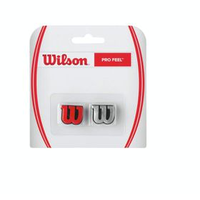 Wilson 'W' Pro Feel Racquet Vibration Dampner - 2 pack - Red & Silver