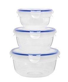 Lock and Lock - Zen Round Nestable Container Clear Set - 3 Piece