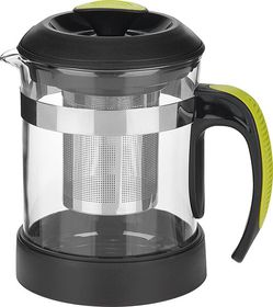 Trudeau - Tea Maker - Silver and Black with Clear Beaker - 600ml